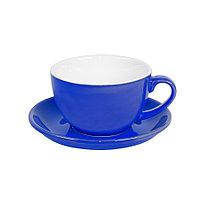 Чайная/кофейная пара CAPPUCCINO, синий, 260 мл, фарфор
