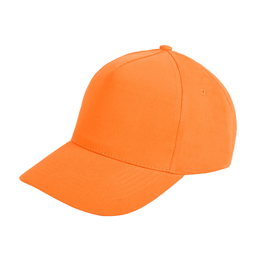 """Бейсболка """"Standard"""", 5 клиньев, металлическая застежка; оранжевый; 100% хлопок; плотность 175 г/м2"""