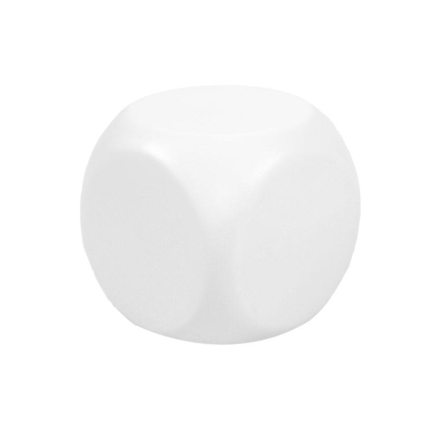 """Антистресс """"Куб-приниматель решений""""; белый; 6х6х6 см; вспененный каучук"""