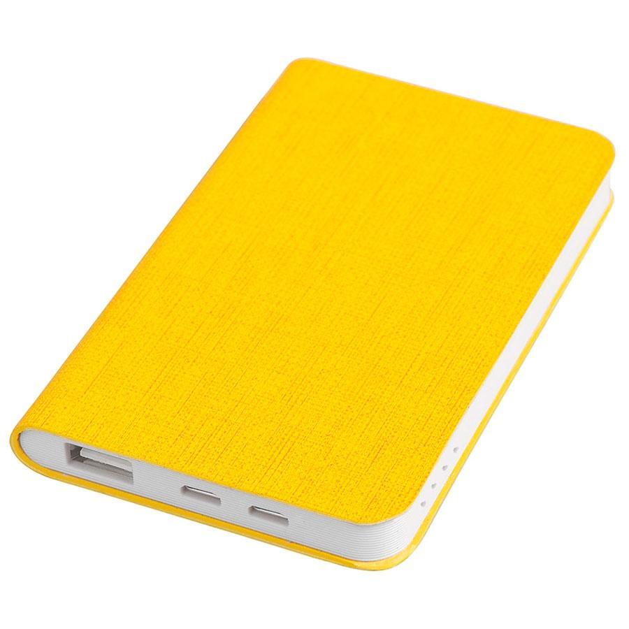 """Универсальный аккумулятор """"Provence"""" (4000mAh),желтый, 7,5х12,1х1,1см, искусственная кожа,пл"""