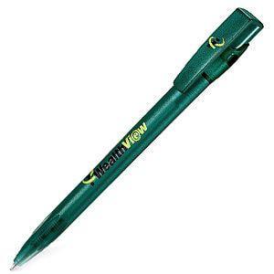 KIKI FROST, ручка шариковая, фростированный зеленый, пластик