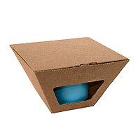 Коробка для чайных пар 27600, 27800, размер 17,2х10,94х8,2 см,  микрогофрокартон, коричневый, фото 1