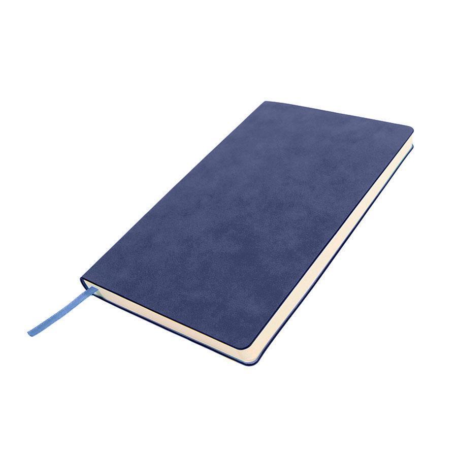 Бизнес-блокнот ALFI, A5, синий, мягкая обложка, в линейку