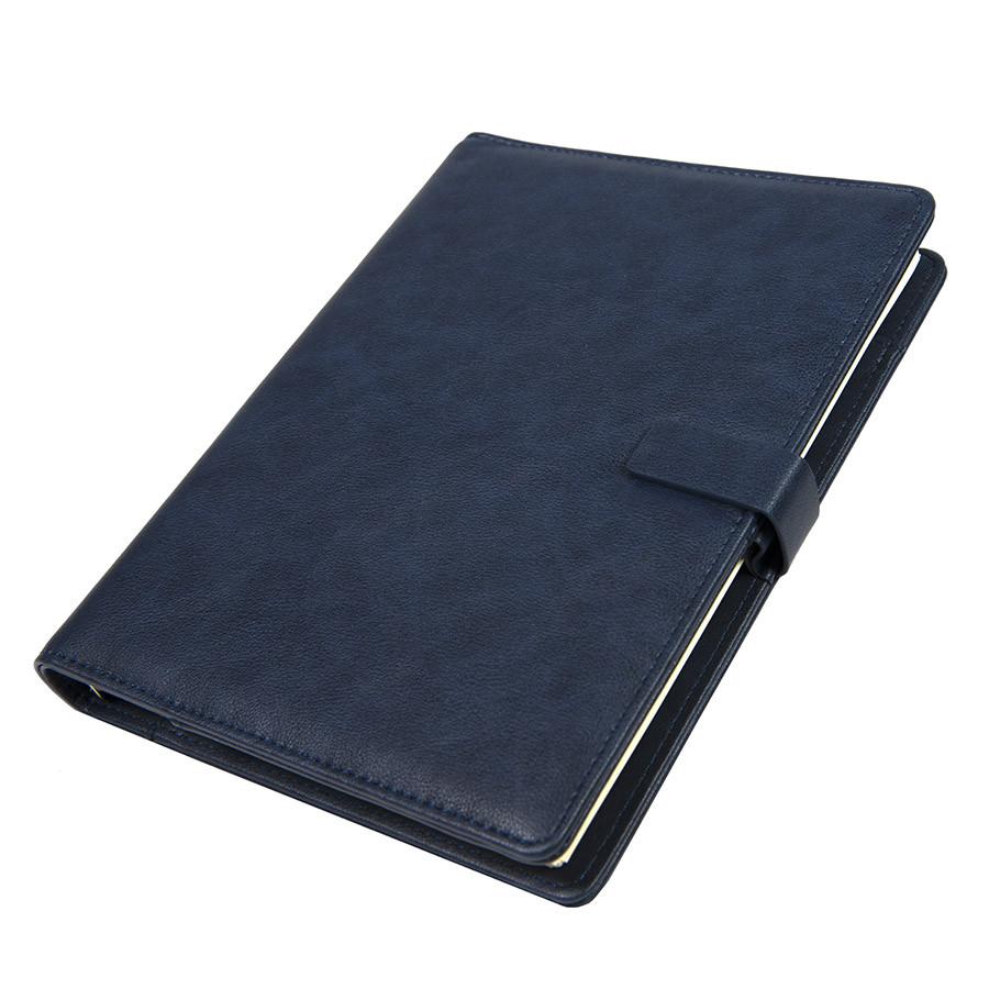 Ежедневник недатированный Coach, B5, темно-синий, кремовый блок, подарочная коробка