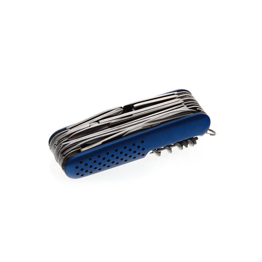 Нож многофункциональный; синий; 9х2,8х2,9 см; металл