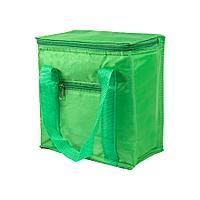 Сумка-холодильник, 5,7 л; зеленый; 20,7х11,8х23,5 см (5,7 л); полиэстер