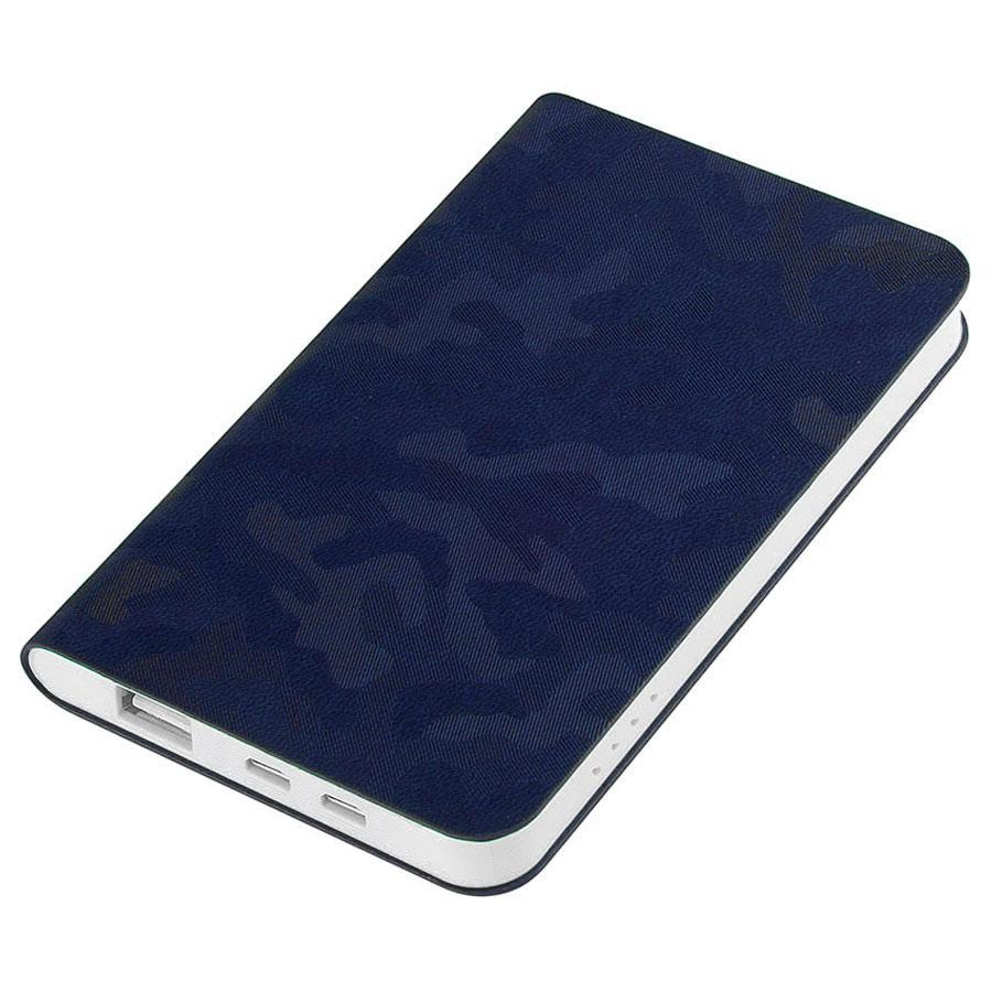 "Универсальный аккумулятор ""Tabby"" (4000mAh), темно-синий, 7,5х12,1х1,1см"