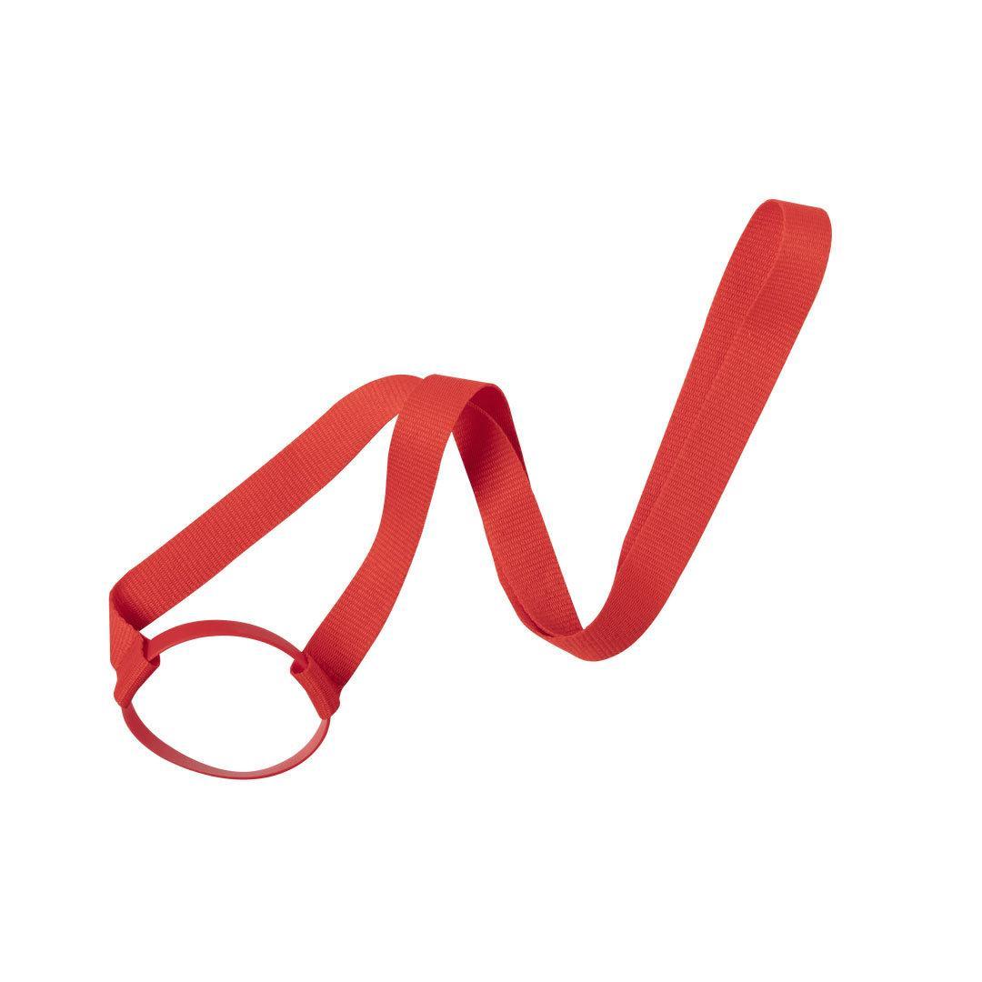 Ланъярд FRINLY для стакана, красный, полиэстер\ силикон, 2х45 см