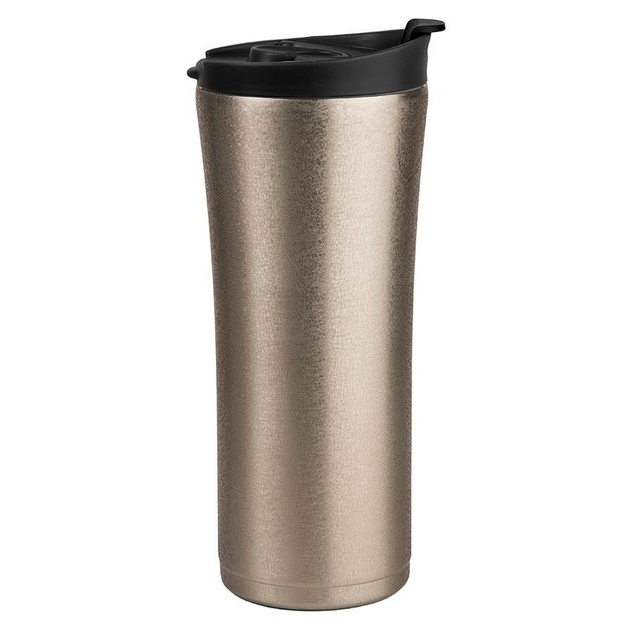 "Термокружка вакуумная с ситечком ""Brew"";  380 мл;  серебро металлик; металл/пластик"