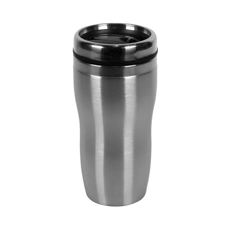 "Термокружка  ""Promo"";  450 мл; серебро; металл/пластик"