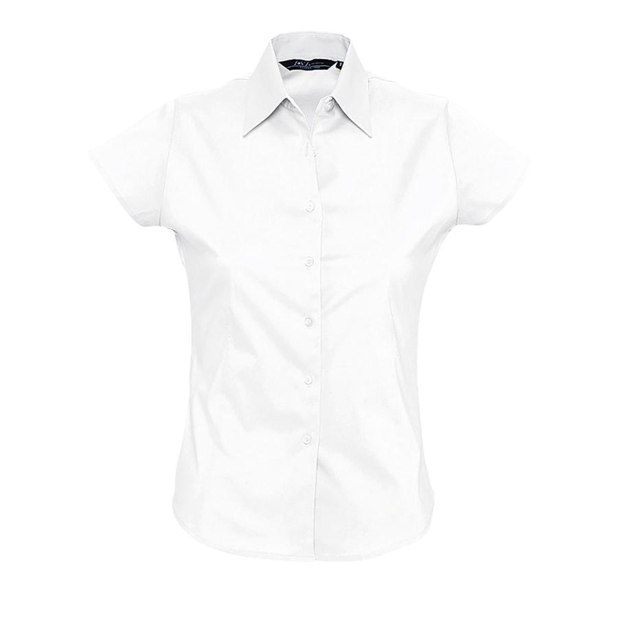 """Рубашка женская """"Excess"""", белый_M, 97% х/б, 3% п/э, 140г/м2"""