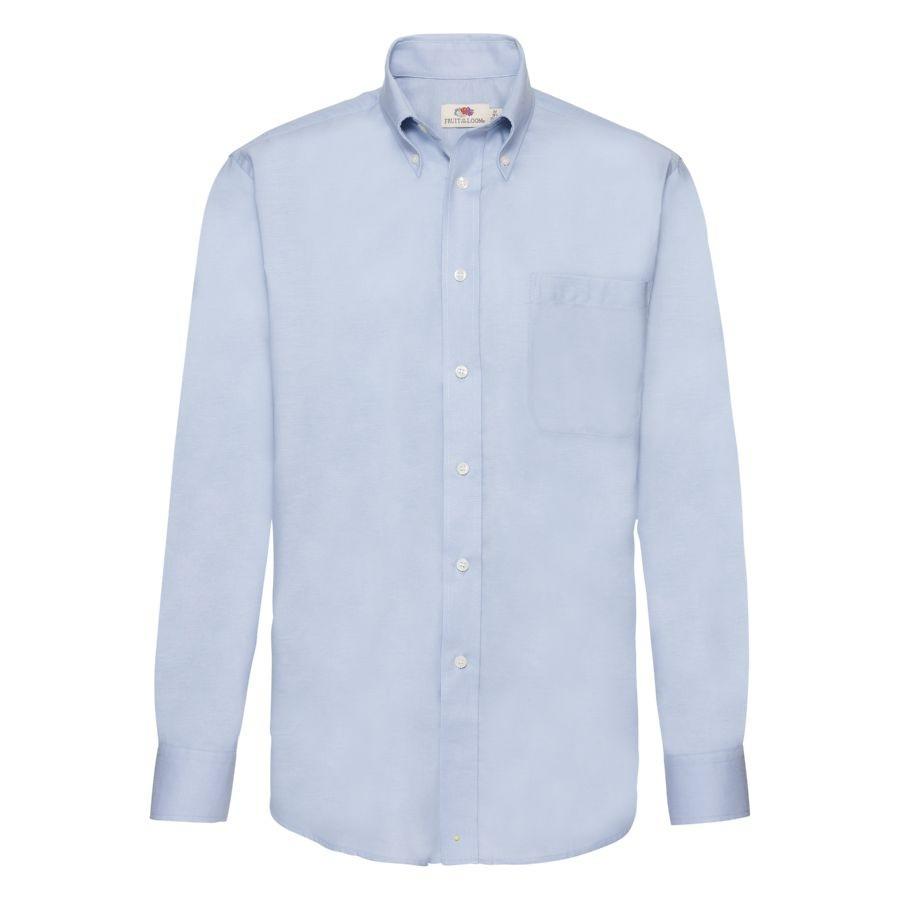 "Рубашка ""Long Sleeve Oxford Shirt"", светло-голубой_XL, 70% х/б, 30% п/э, 135 г/м2"