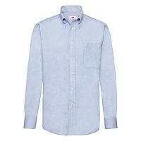 "Рубашка ""Long Sleeve Oxford Shirt"", светло-голубой_XL, 70% х/б, 30% п/э, 135 г/м2, фото 1"