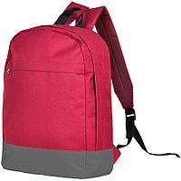 """Рюкзак """"URBAN"""",  красный/ серый, 39х27х10 cм, полиэстер 600D"""