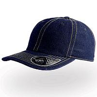 """Бейсболка """"DAD HAT"""", 6 клиньев, металлическая застежка, темный джинс, 100% хлопок, 280 г/м2"""