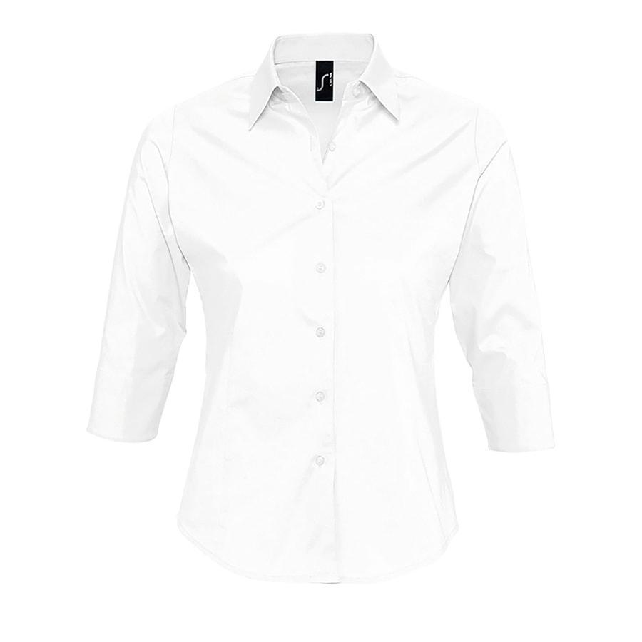 """Рубашка женская """"Effect"""", белый_M, 97% х/б, 3% п/э, 140г/м2"""