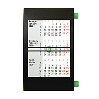 Календарь настольный на 2 года; черный с зеленым; 18х11 см; пластик, фото 1