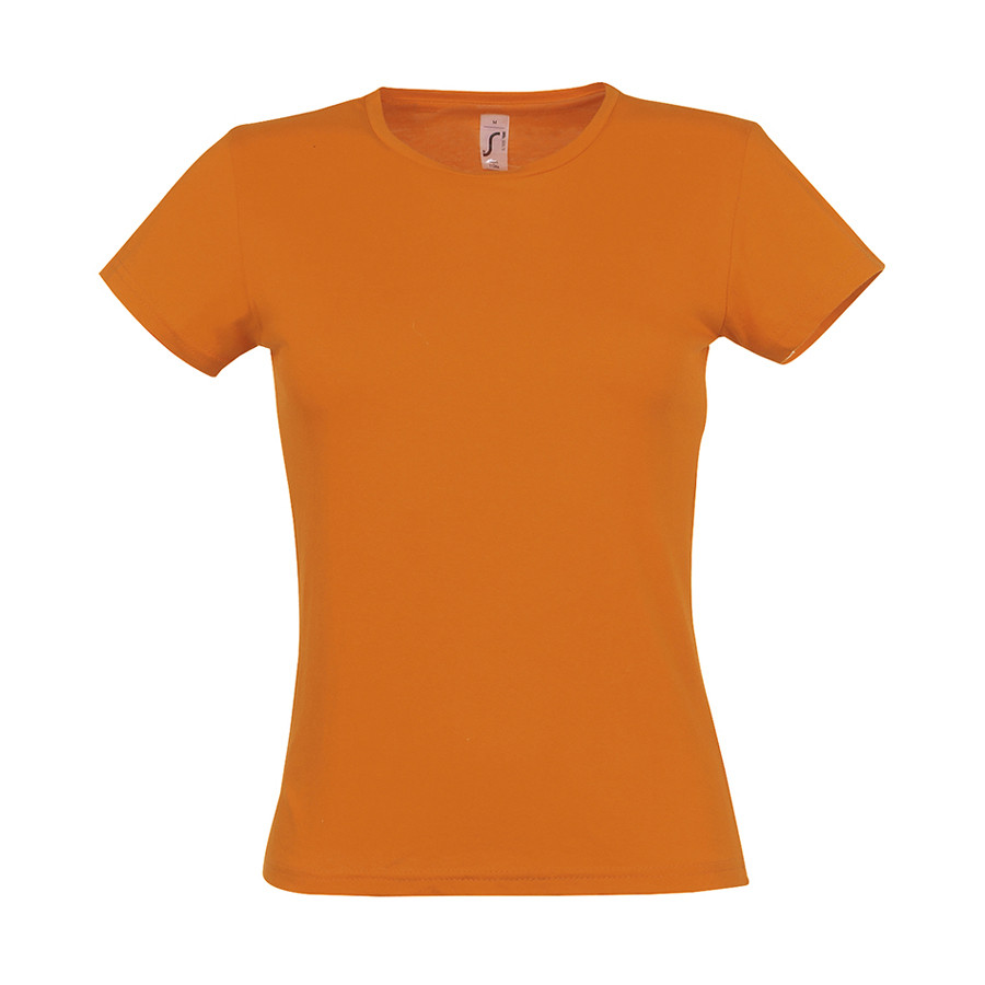 "Футболка ""Miss"", оранжевый_M, 100% х/б, 150 г/м2"
