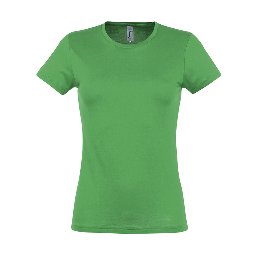 """Футболка """"Miss"""", ярко-зеленый_2XL, 100% х/б, 150 г/м2"""