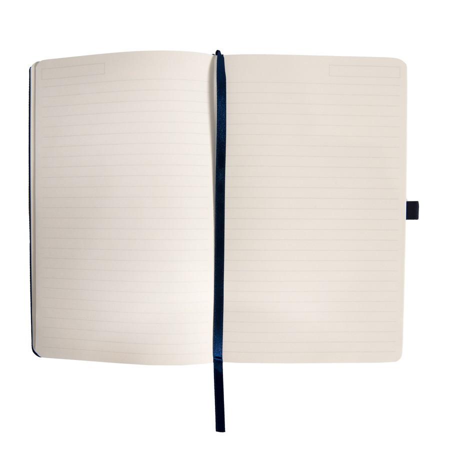 Бизнес-блокнот OXI, A5, синий, твердая обложка, RPET, в линейку