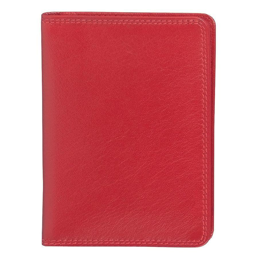 """Бумажник водителя """"Модена"""",  10*14 см,  красный, кожа, подарочная упаковка"""