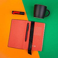 Набор подарочный BLACKEDITION:  кружка, блокнот, ручка, аккумулятор,  черный/красный