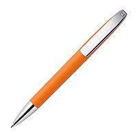 Ручка шариковая VIEW, покрытие soft touch, оранжевый, пластик, металл