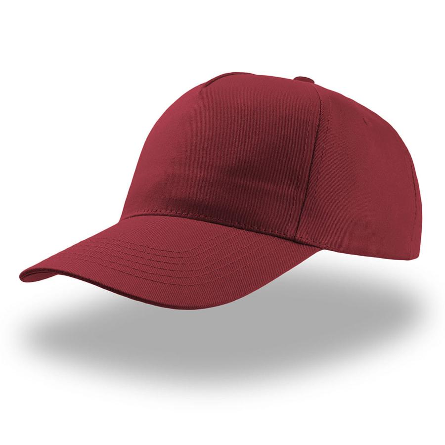 """Бейсболка """"START FIVE"""", 5 клиньев, застежка на липучке; бордовый; 100% хлопок; плотность 160 г/м2"""