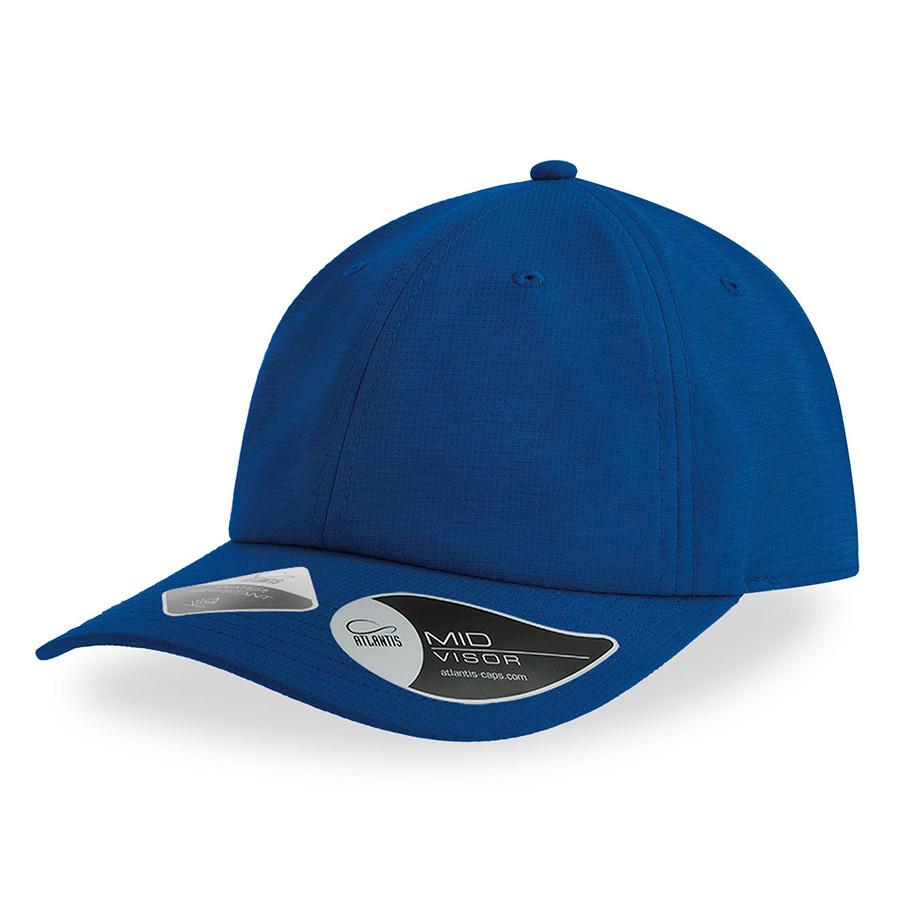 "Бейсболка ""ENERGY"", 6 клиньев, застежка на липучке, ярко-синий, 100% полиэстер, 110 г/м2"