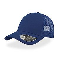 "Бейсболка ""RAPPER COTTON"", 5 клиньев, пласт. застежка, синий, 100 х/б%, 100% полиэстер, 180 гр/м2"