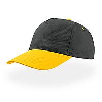 """Бейсболка """"START FIVE"""", 5 клиньев,застежка на липучке;т.синий-желтый;100% хлопок;плотность 160 г/м2"""