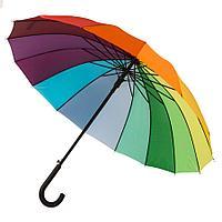 """Зонт-трость """"Радуга"""" (полуавтомат), D=110см, нейлон, пластик, шелкография"""
