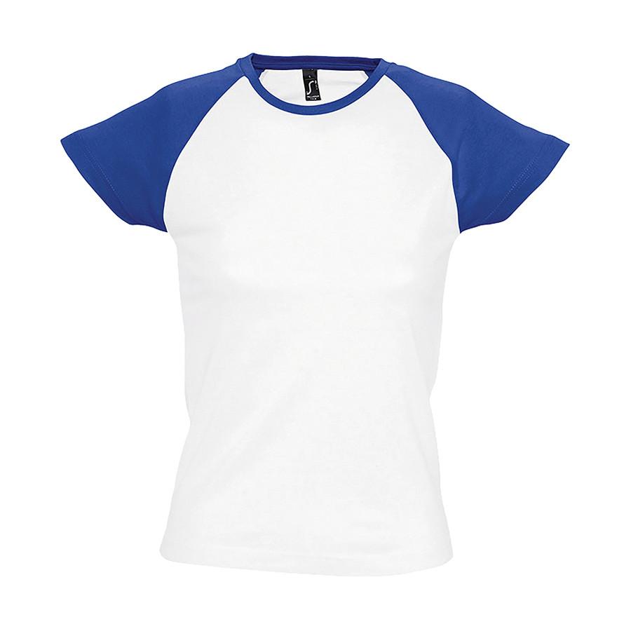 """Футболка """"Milky"""", белый с ярко-синим_XL, 100% х/б, 150 г/м2"""