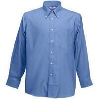 """Рубашка """"Long Sleeve Oxford Shirt"""", синий_2XL, 70% х/б, 30% п/э, 135 г/м2"""
