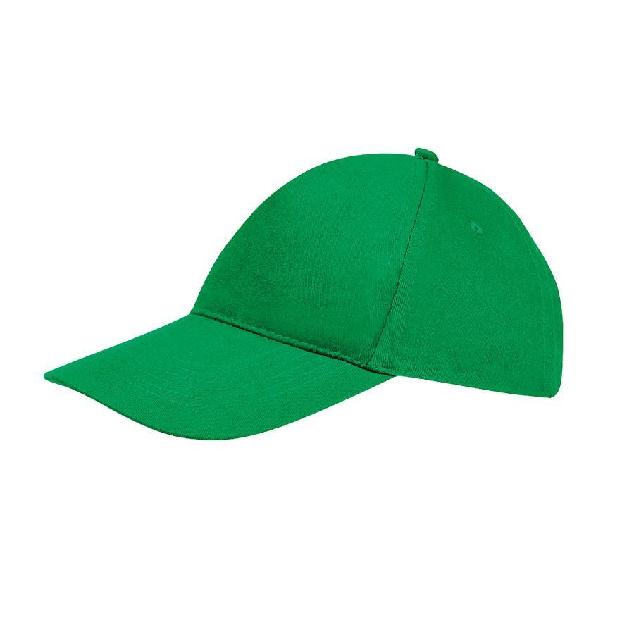 """Бейсболка """"SUNNY"""", 5 клиньев, застежка на липучке, ярко-зеленый, 100% хлопок, плотность 180 г/м2"""
