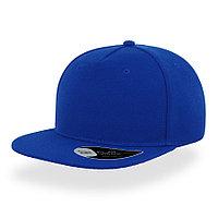 """Бейсболка """"SNAP FIVE"""", 5 клиньев, пластиковая застежка, ярко-синий, 100% полиэстер, 400 г/м2"""