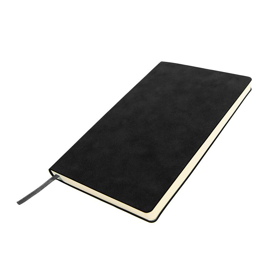 Бизнес-блокнот ALFI, A5, черный, мягкая обложка, в линейку