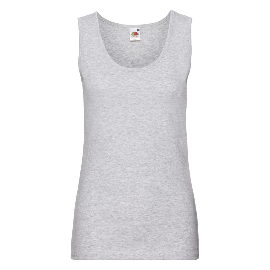 "Майка женская ""Lady-Fit Valueweight Vest"", серо-лиловый_L, 97% х/б, 3% п/э, 165 г/м2"