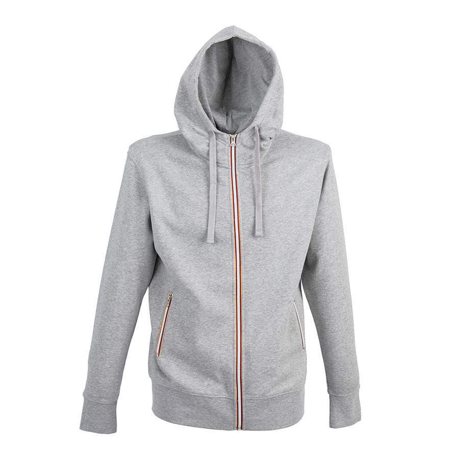 "Толстовка мужская ""LAS VEGAS MAN"", серый меланж, XL, 65% полиэстер, 35% хлопок, 280 г/м2"