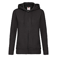 "Толстовка ""Lady-Fit Hooded Sweat Jacket"", черный_XS, 75% х/б, 25% п/э, 280 г/м2"