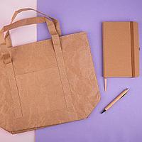 Набор подарочный NOTRASH: ручка шариковая, бизнес-блокнот thINKme, термосумка