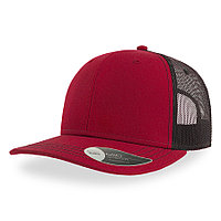 """Бейсболка """"SONIC"""", 6 клиньев, пласт. застежка, бордовый/черный, осн.ткань, 100% хлопок, 280 г/м2"""