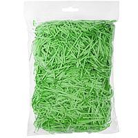 Стружка бумажная декоративная, 2 мм, 56 гр, зеленая
