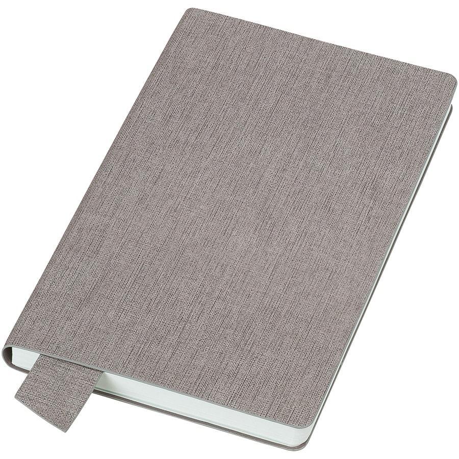 """Бизнес-блокнот А5  """"Provence"""", светло-серый , мягкая обложка, в клетку"""