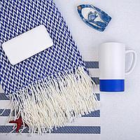 Набор подарочный REALSAILOR: универсальный аккумулятор, плед, кружка, подарочная коробка, синий