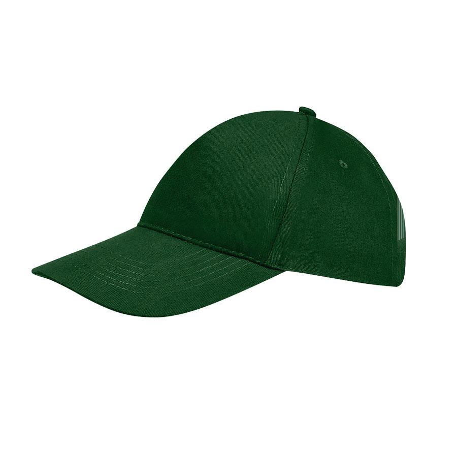 """Бейсболка """"SUNNY"""", 5 клиньев, застежка на липучке, темно-зеленый, 100% хлопок, плотность 180 г/м2"""
