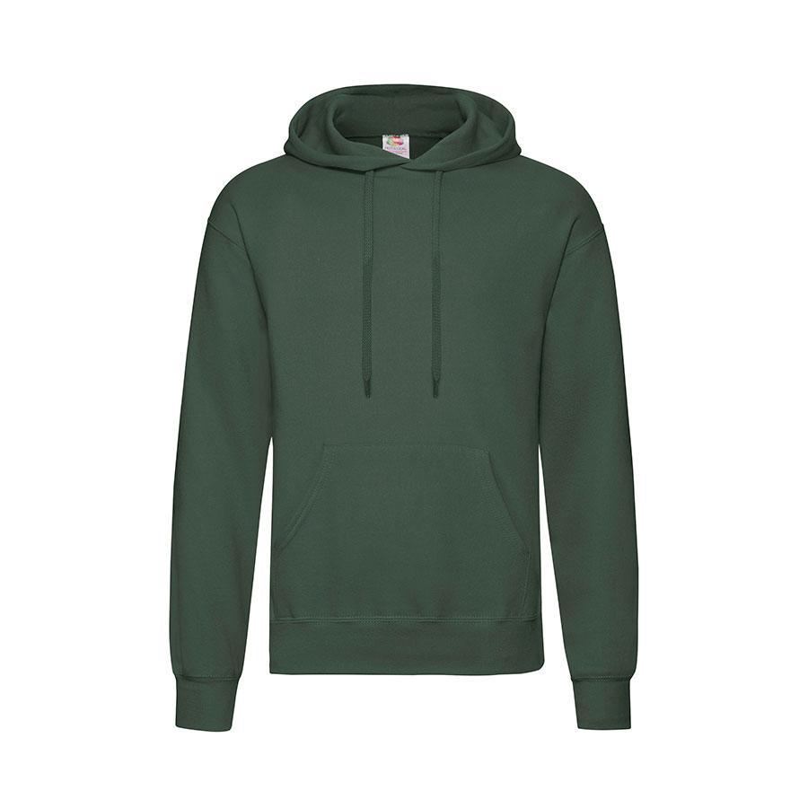"Толстовка ""Hooded Sweat"", темно-зеленый_S, 80% х/б, 20% п/э, 280 г/м2"