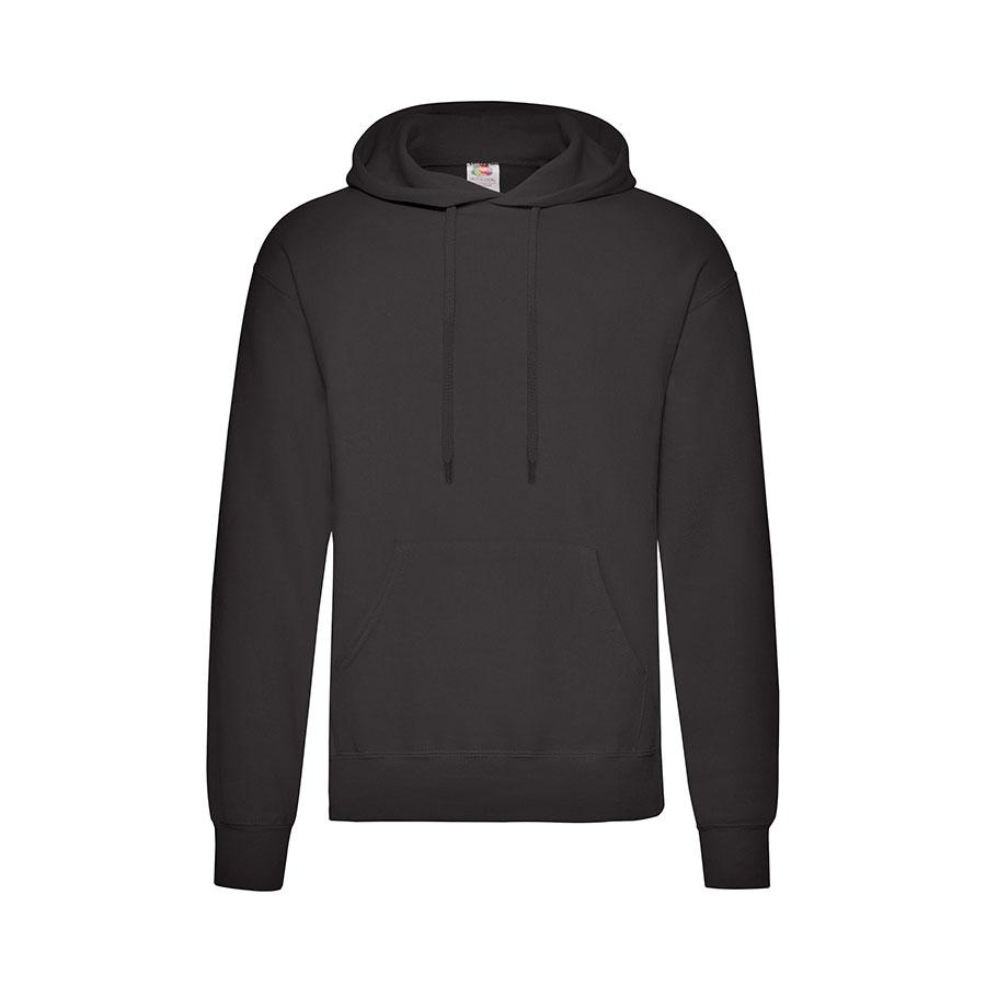 "Толстовка мужская с начесом ""Сlassic Hooded Sweat"", черный_XL, 80% х/б, 20% п/э, 280 г/м2"