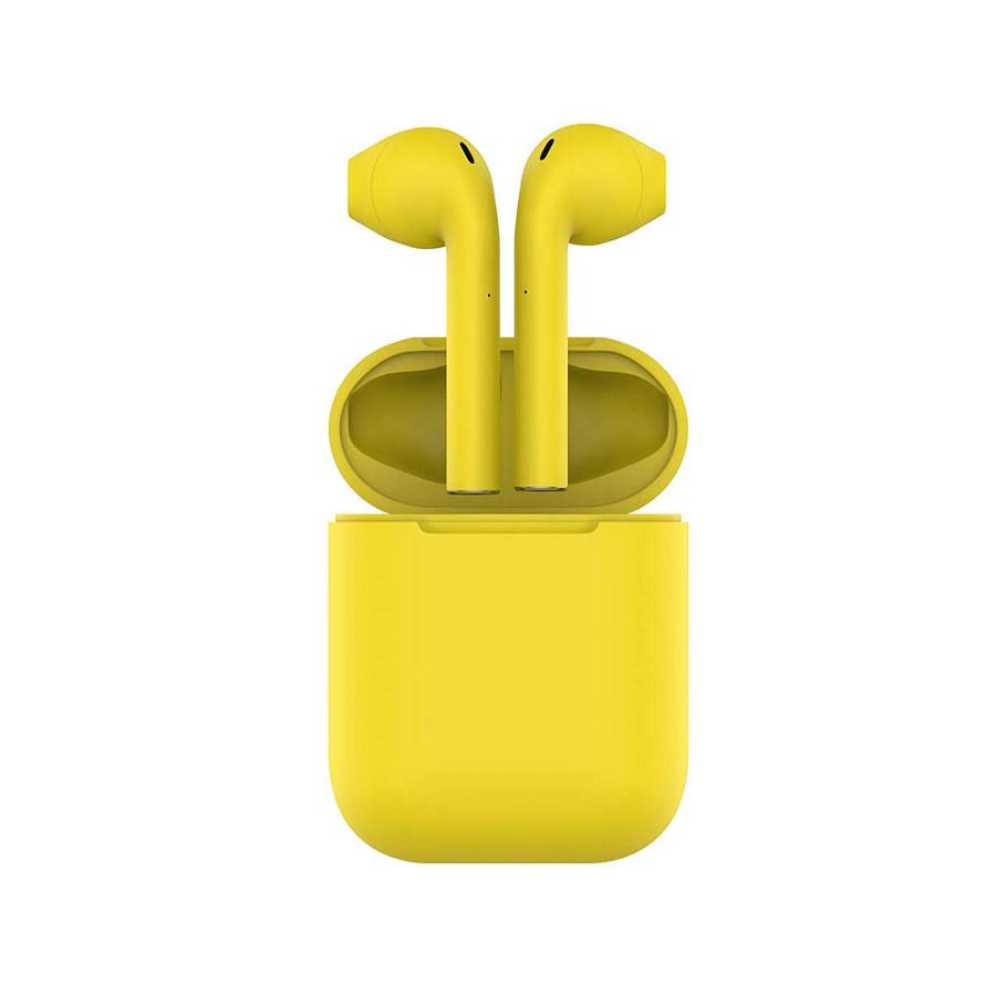 Наушники беспроводные с зарядным боксом TWS AIR SOFT, цвет желтый