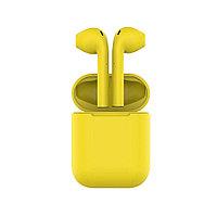 Наушники беспроводные с зарядным боксом TWS AIR SOFT, цвет желтый , фото 1